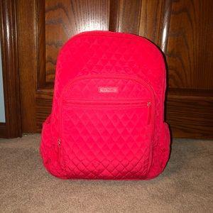 Red Quilted Essentials Bookbag